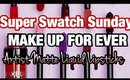 🚨YOUTUBE LIVE 🚨 Super Swatch Sunday: NEW Make Up For Ever Artist Liquid Lipstick SWATCHES