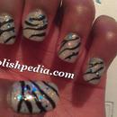 Glittery Zebra Print