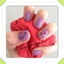 Cute valentines day nail