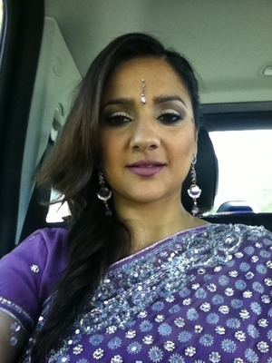Me on the way to my cousin's wedding. I posted a tutorial on this look- Mauved out makeup