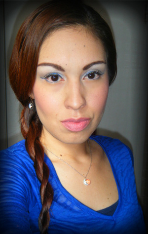 I'm Blue! lol Same blue as my other picture except here I blended it in on my crease for a more wearable look.