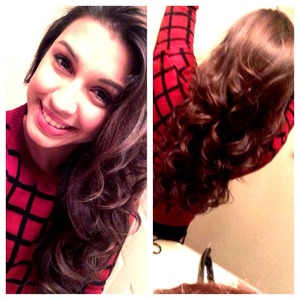 Simple hair and makeup for New Years celebration at my sister in laws house <3