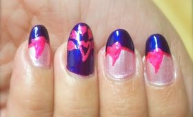 Pink Hearts Valentine's Day Nails Design