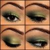 Green Smokey Eye! makeupbykailanmarie.blogspot.com