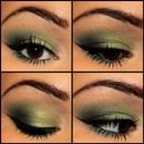Green Smokey Eye! makeupbykailanmarie.blogspot.com