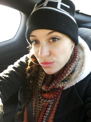 little mascara & lipstick + light blushhh!!  (gosh cosmetics)