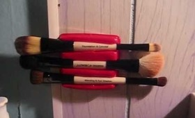 DIY: Double ended brush storage solution