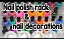 Banggood.com   Acrylic Nail Polish Rack & Nail Decorations