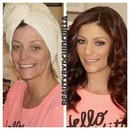 Before and After Glam Makeover