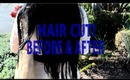 NEW HAIR CUT!  I cut off 8 inches of hair! (Before & After) - AprilAthena7