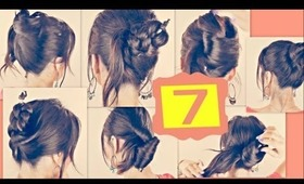 ★7 EASY HAIRSTYLES WITH JUST A PENCIL!  LONG HAIR TUTORIAL - UPDOS BUNS PONYTAILS BRAIDS FOR SCHOOL