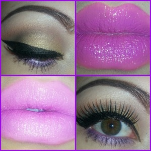 brazen berry lipstick lilac is same lipstick with nyx shadow base on top. its purple in person