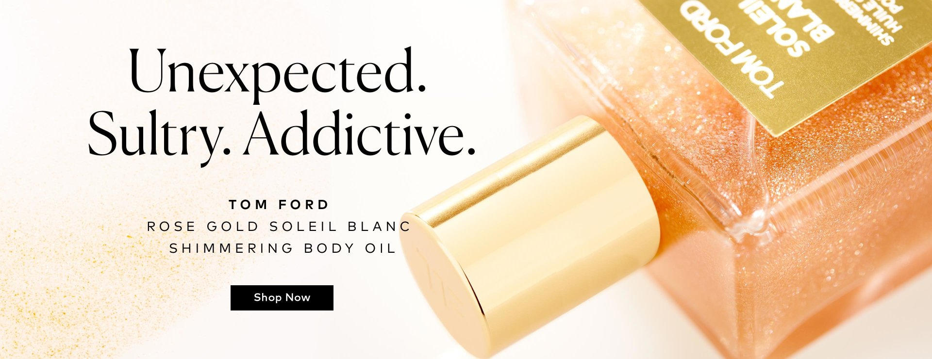 TOM FORD's Soleil Blanc Shimmering Body Oil now comes in rose gold – shop now!