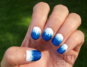 Inspired by the tutorial from the blog Nailed It - http://thelittlecanvas.blogspot.com/2012/09/31-day-challenge-day-5-blue-nails.html