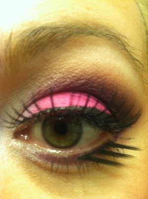 BareMinerals READY shadows: Dream Sequence & A List quads with Black Heart pink shadow 2 sets of NYX Lashes MAC Acrylic Paint in black for liner