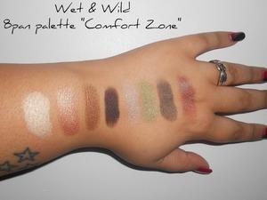 "Wet & Wild 8 pan palette ""Comfort Zone"" swatch"