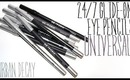 Review & Swatches: URBAN DECAY 24/7 Glide-On Eye Pencils Universals