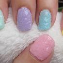 Textured rainbow pastels