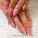 Sculpted light pink nails