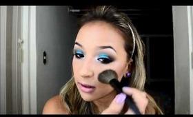 Maquiagem azul verão por Raquel Fernandes