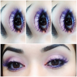 purple lashes. more of this on ladyartlooks.com  instagram @alanadawn instagram @ladyartlooks