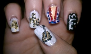 Elvis nails for his birthday this weekend