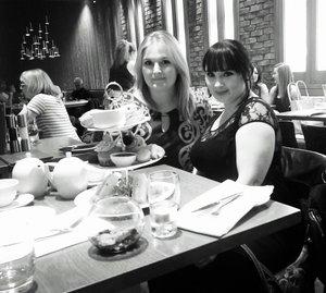 me and sabrina.k rockin it at high tea