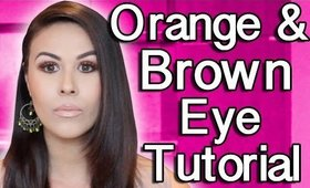 How To Do Your Eye Makeup: Orange and Brown Eyeshadow Tutorial