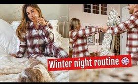 WINTER NIGHT ROUTINE//WEDDING DETAILS!