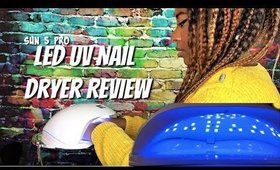 NEW: UV LED Nail Dryer Lamp Review Sun 5 Pro UV Nail Dryer Review || Vicariously Me