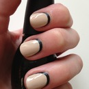 Matte black with glossy nude