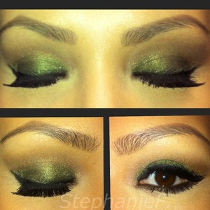 Love using green it just brings out brown to me!