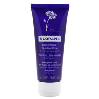 Klorane Waterproof Floral Eye Make-Up Remover Gel with Soothing Cornflower