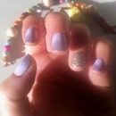 Purple Ombré Nails