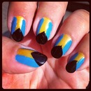 Bahamian Flag Nails