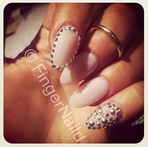 Wild and dramatic but simple to achieve nail art by Figernaild!   FingerNaild Facebook/Instagram/Twitter/Beautylish