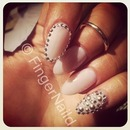 Rhinestone Stiletto Nail Art