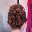 pinned-up hairstyle