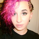Pink hair with sidecut