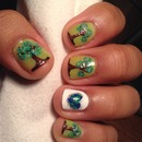 Earth day nails
