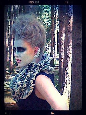 hair & make up by myself photo: Dieter Konrad Styling: Maria Masha Model: Sandra