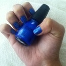 Gorgeous summer nails. By sinful colors shade blue by you 1100. Rich and lasts for 3 days. Or more if your careful. :)