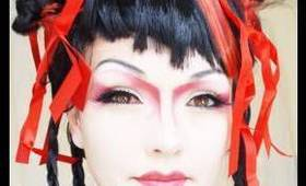 Pretty Fun GEISHA Costume Make-Up (by kandee)