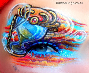 used BSC eyeshadows & glitters :)