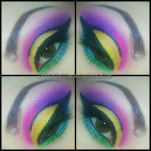 The black liner bled onto the yellow a little. this is not my best work but I wanted to post anyways.
