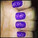 Purple And Gold Stamp.