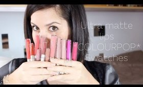 Colourpop Ultra Matte Lip Swatches   LaundMakeup