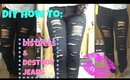DIY How To Distress + Destroy Jeans