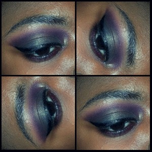 my eye of the day using the coastal scents 120 5th edition palette and the fall festival palette. I usually include lashes, but I got lash glue in my eye and gave up lol