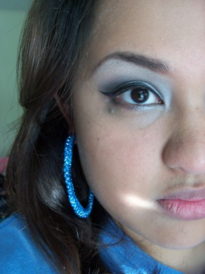 Smokey eye and earrings using products from I-Candy Couture: www.i-candycouture.com